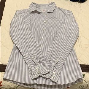 j crew MAKE AN OFFER stripe button up top